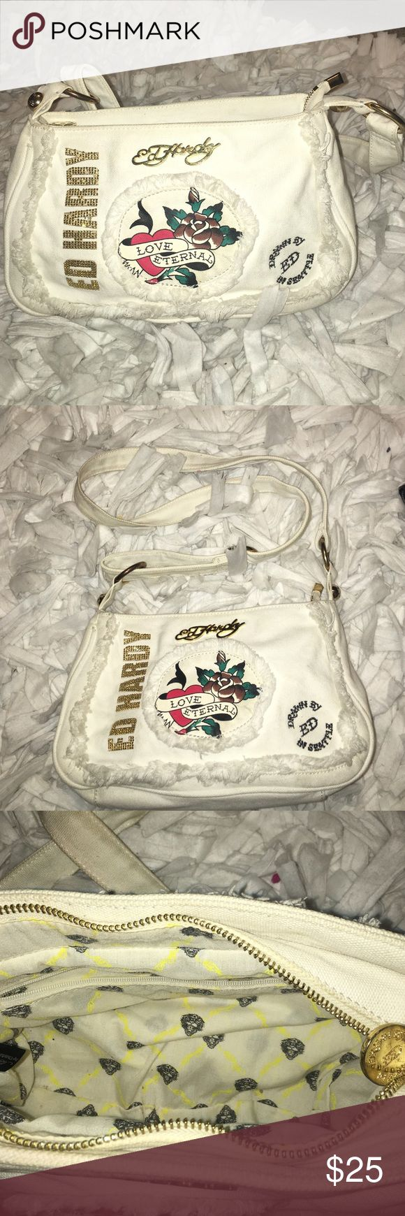 Ed Hardy 7829 Melrose White purse Ed Hardy Bags Shoulder Bags