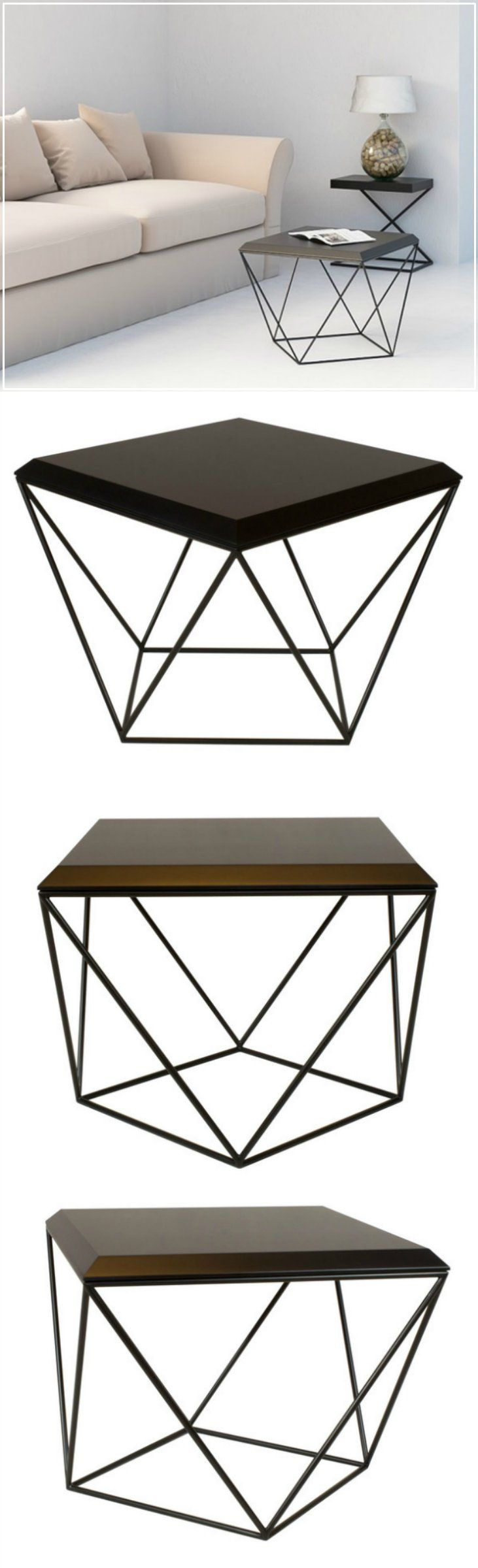 TULIP is a minimalist coffee table with an intriguing geometric silhouette. Just turn it 90 degrees and watch it get a totally different shape. Minimalistic home design, minimal designer furniture - a unique product by take me HOME via en.dawanda.com