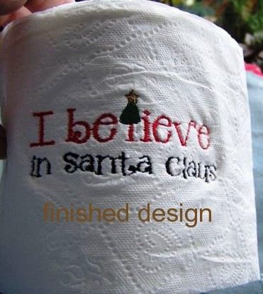 how to machine embroider on toilet paper