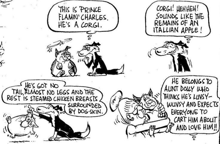 Footrot Flats cartoon.. Corgi