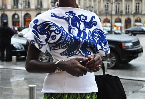 .: Bracelet, Embroidered Tops, Prada, Fashion, Street Style, Embroidery, Monkey, Shirt