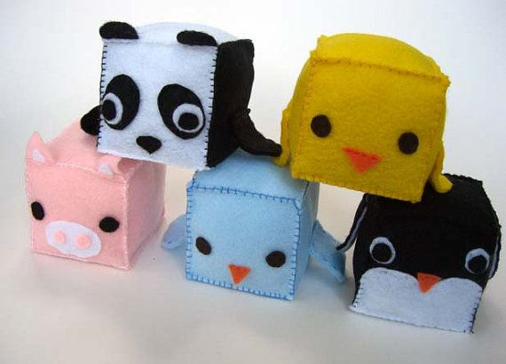 Felt Block Animals