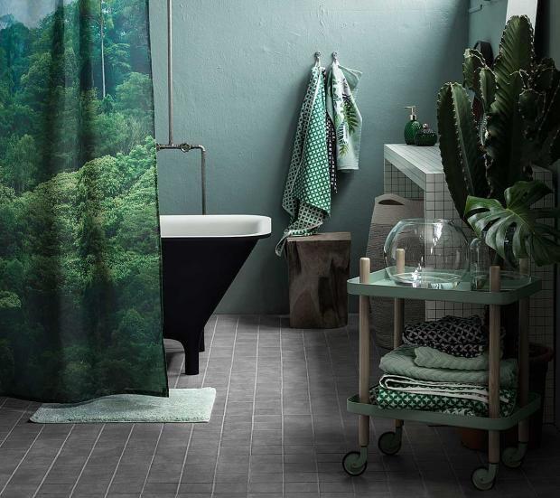 Duschvorhang und Handtücher von H&M Home