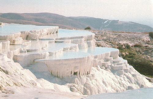 """Pammukale Thermal Baths, Turkey """"cotton castle"""""""