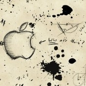 """""""Who Ate This Apple?"""" HD Wallpaper for iPhone 4S/iPhone 4/iPod Touch 4G.  See Top 100 Best Apple Logo HD Wallpapers for iPhone/iPod Touch  http://senseiphone.com/top100-best-apple-logo-hd-wallpapers-04082625/"""