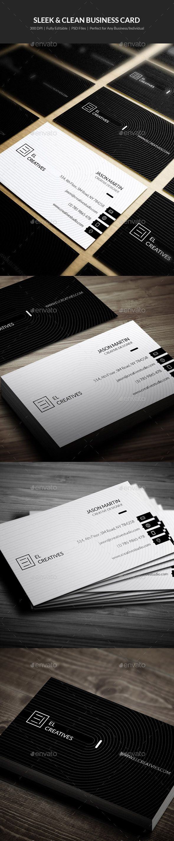 Best 25 cleaning business cards ideas on pinterest visit cards sleek clean business card 15 magicingreecefo Gallery