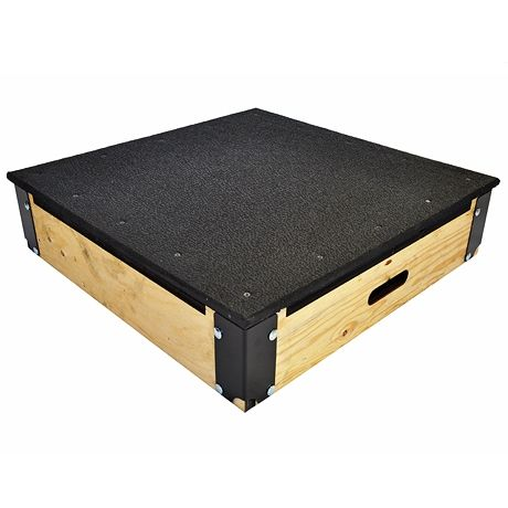 Wood Plyo Box with Rubber Top