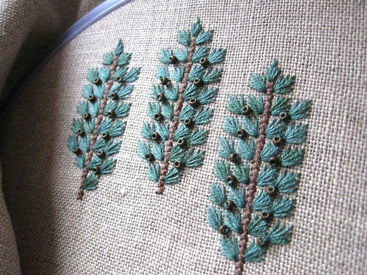 Best images about embroidery trees and leaves on