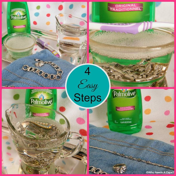 Simple 2 Ingredient Jewelry Cleaner | Who Needs A Cape? #PalmoliveWM #ad
