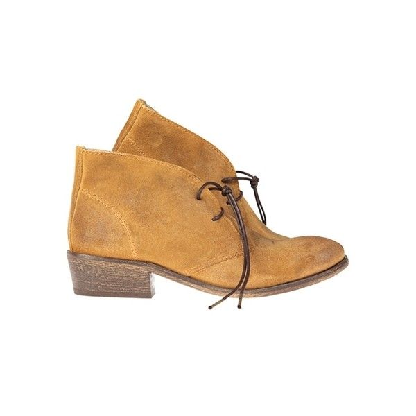 Superdry Beatnik Shoe (4,205 HNL) found on Polyvore featuring women's fashion, shoes, boots, ankle booties, camel suede, обувь, camel boots, lined boots, lined ankle boots and short boots