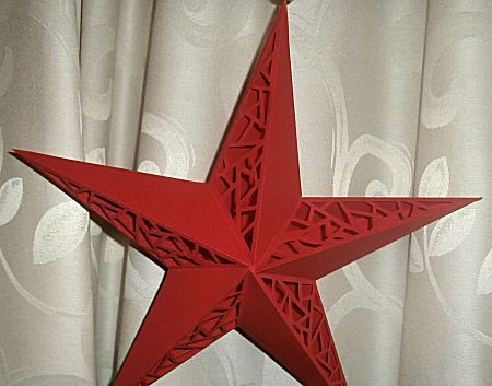 kerstster snijden/vouwen van A4papier