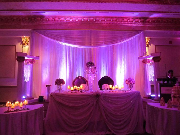 In-house head table decor