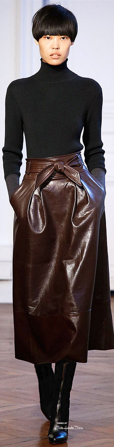 Fluff aan je Cuff Leather Knitwear Fall Winter 2015