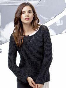 Deze komt uit de Fatto a Mano Collection nr. 205 van Lang yarns.  Deze is gewoon mooi door zijn simpelheid! Deze trui bewijst dat het niet altijd een ingewikkeld patroon moet zijn of een speciale draad.  Hier siert de eenvoud!