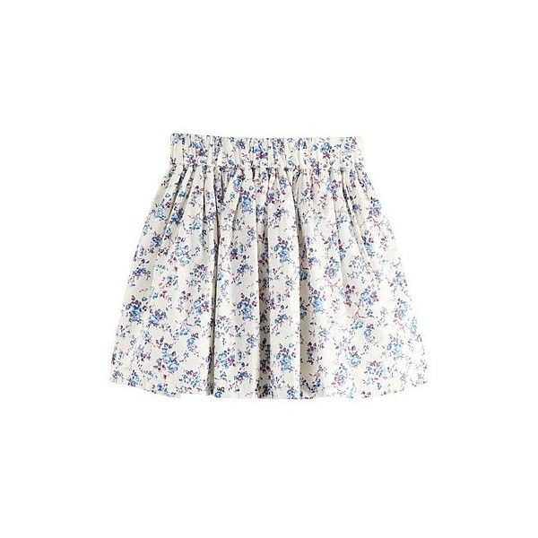 Lea Sweetheart Floral Skirt (Women) | VANCL (81 PEN) ❤ liked on Polyvore featuring skirts, bottoms, saias, bottoms - skirts, flower print skirt, white skirt, white floral skirt, floral printed skirt and floral skirt