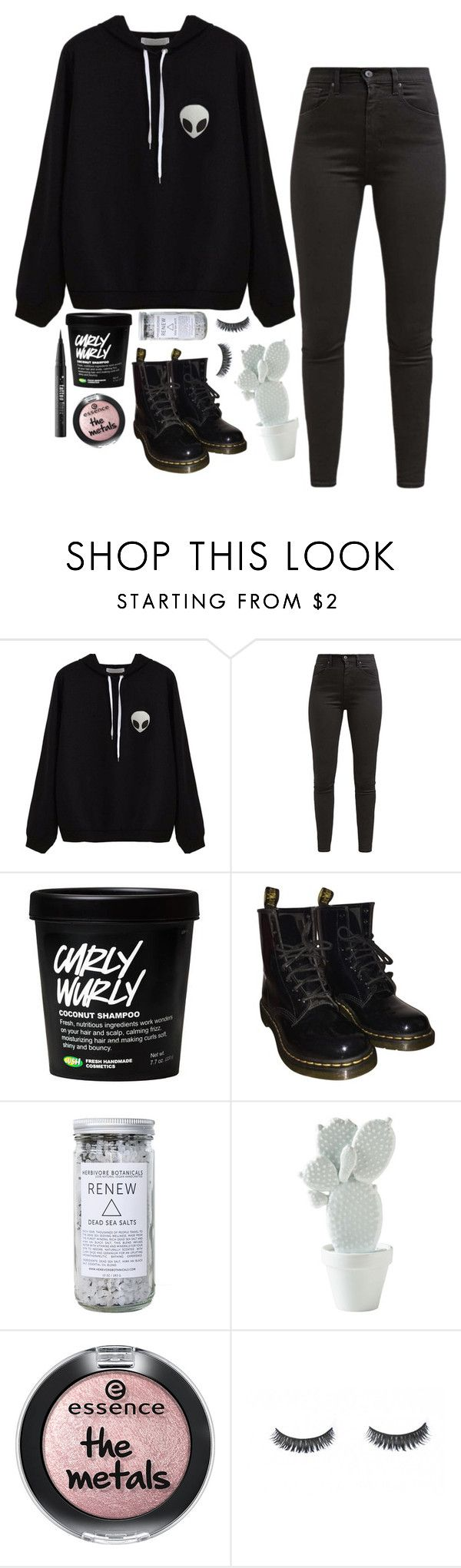 """Untitled #506"" by lethargicbea ❤ liked on Polyvore featuring Levi's, Dr. Martens, Herbivore and Kat Von D"