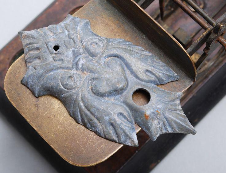 Vintage metal plate, embellishment. Ugly face, monster by Alchemyshop on Etsy https://www.etsy.com/listing/399003331/vintage-metal-plate-embellishment-ugly
