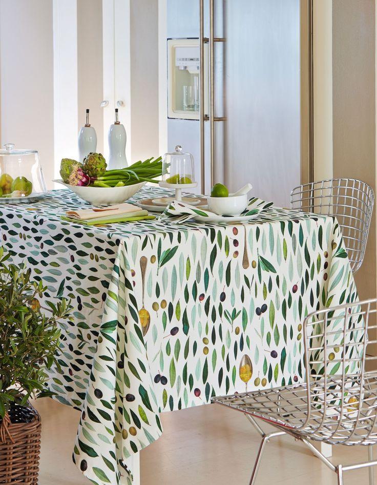 Tischdecke, Oliven von Apelt, Artikel 3054