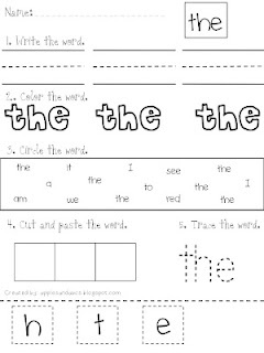 Words for worksheet  Ideas word sight  Worksheets   Sight  the  Sight  Pinterest Primary   Word