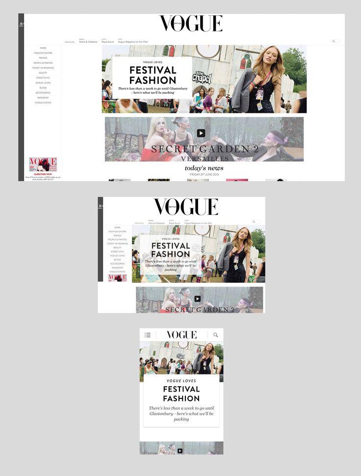 Vogue responsive design #responsive #webdesign #inspiration