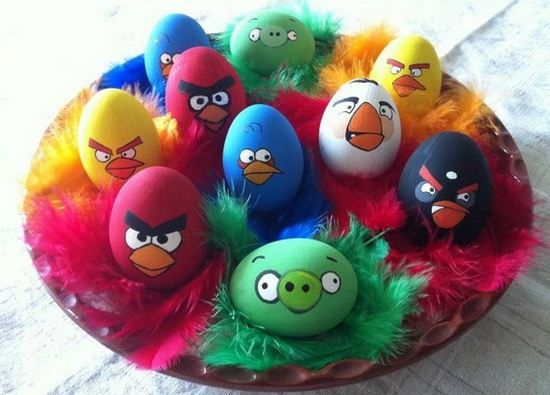 huevos de pascua angry birds