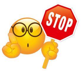Stop Smiley mit Stopschild - Vektor | Emojis | Smiley emoji