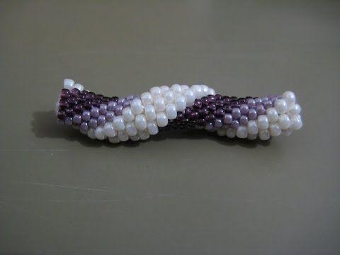 Tutorial : tubolare crochet con perline rocailles 11/0 e 8/0 - 2^ parte - YouTube