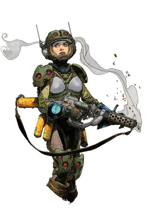 """Space Girl"" ~ Travis Charest ~ Miks' Pics ""Artsy Fartsy Vll"" board @ http://www.pinterest.com/msmgish/artsy-fartsy-vll/"
