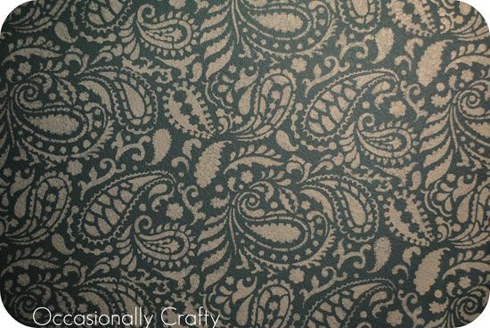 Paisley Allover #Stencil Pattern painted on textured walls!