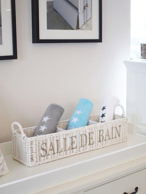 """Eine schöne Dekobox """"salle de bain"""" aus eissen Rattan von Homestyle & Garden"""