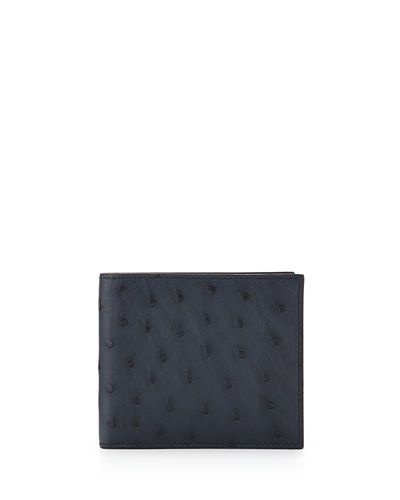 Prada+Ostrich+Bi+Fold+Wallet+|+Bag