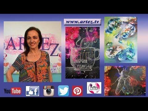 Artez TV programa 31 #Abstracto con acrílico #Fondos oscuros para cuadros - YouTube