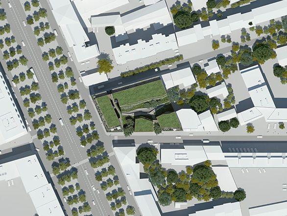 Plan masse du projet du Boulevard de Louvain à Marseille, par Tangram Architectes