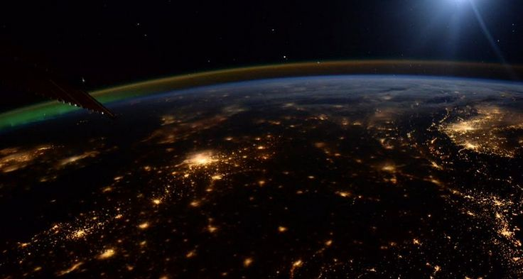 A view of the thin layer of atmosphere above Europe from the International Space Station... on opening day of the international climate summit in Paris  2015 http://www.greenpolicy360.net/w/Climate_Change_Summit_Paris