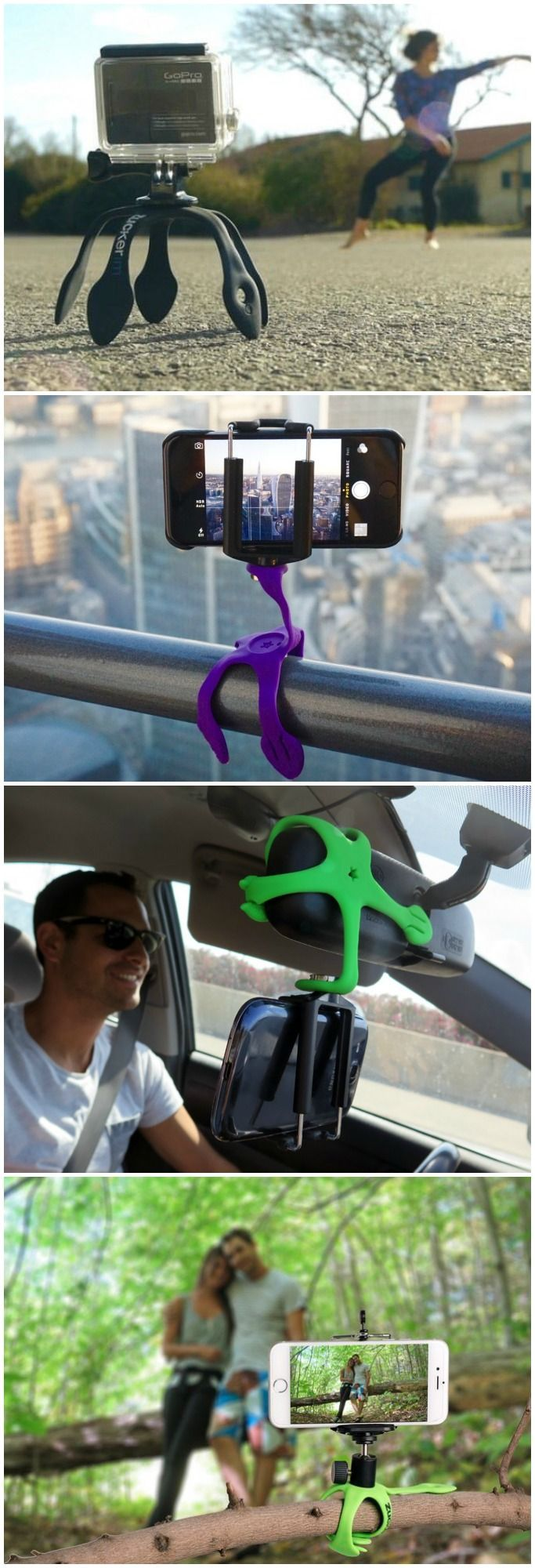 Gekkopod Mobile Smartphone Mount - The world's most versatile smartphone & GoPro mount.