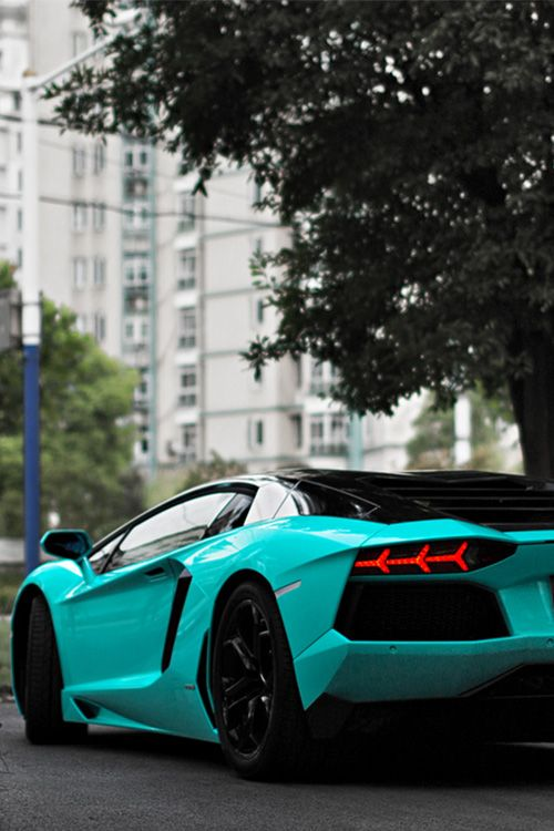 Tiffany Blue Aventador (by This will do)
