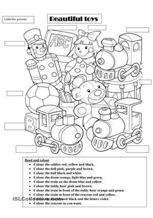 toys worksheet - Buscar con Google