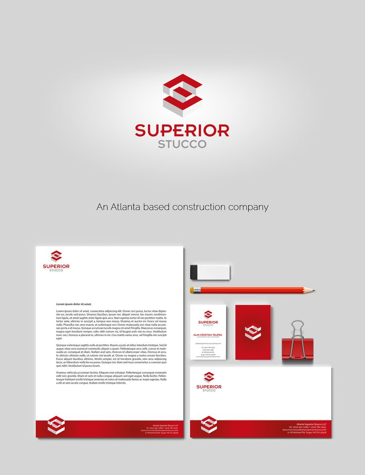 Superior Stucco branding