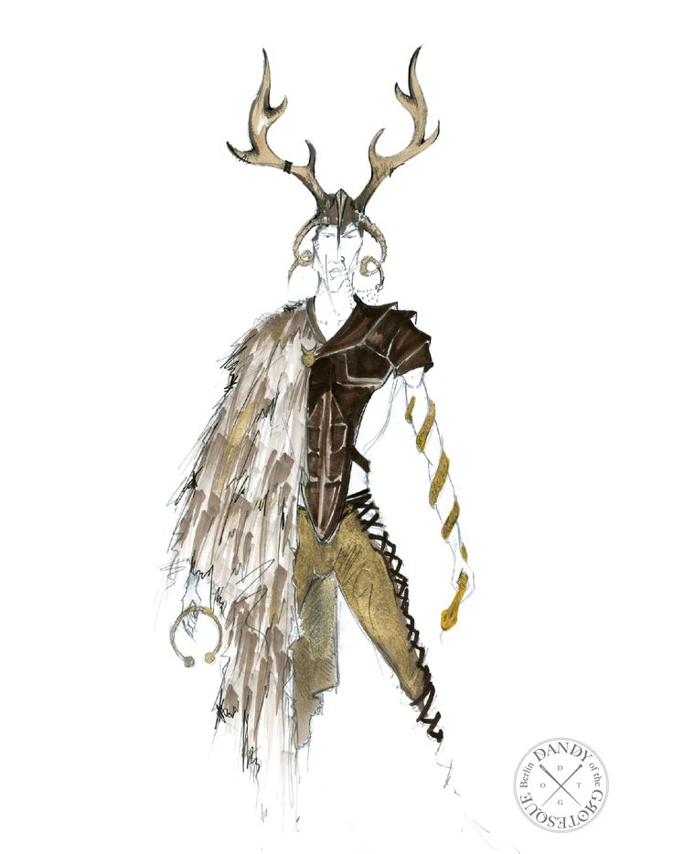 cernonnus - costume design for FAUN video clip
