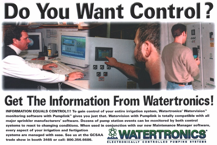 Watertronics trade show publication ad