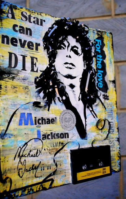artBASM: ' Michael Jackson - A star can never DIE ' ( Mixed Media - Collage ) - BASM