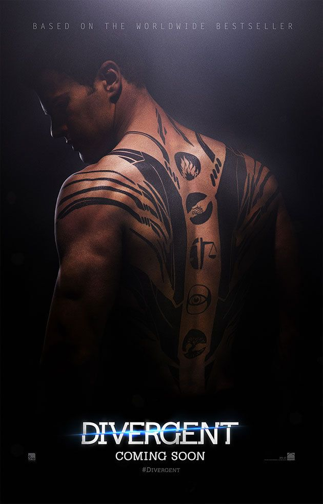 Shailene Woodley and Theo James flaunt tattoos in new Divergent posters (exclusive) - Yahoo Movies UK