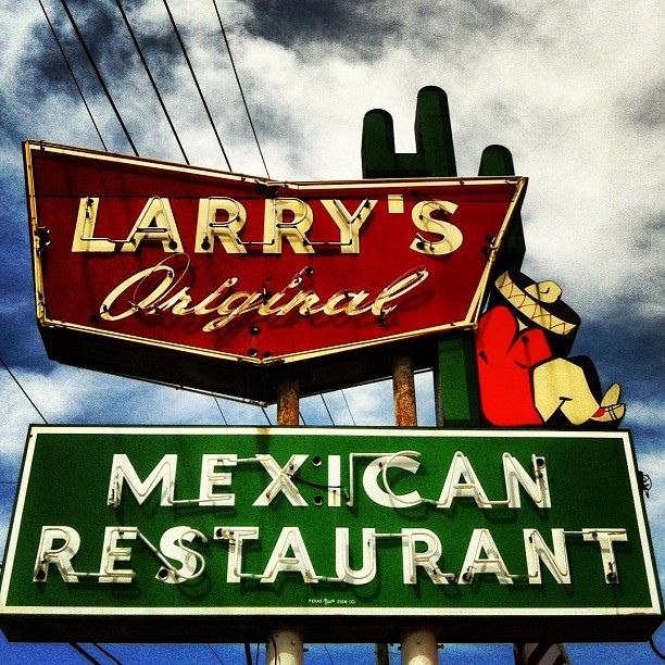Vintage neon sign for Larry's Mexican Restaurant in Richmond, Texas by MOLLYBLOCK, via Flickr
