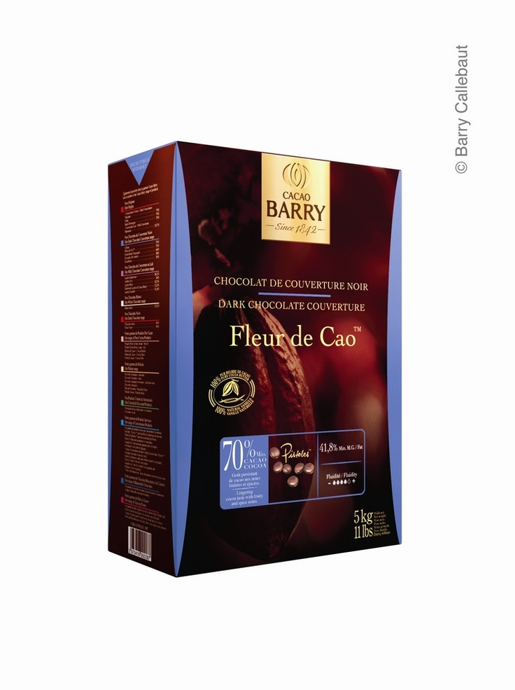 Dark Chocolate Couverture - Fleur de Cao. Lingering cocoa taste with fruity and spicy notes. More info here http://www.cacao-barry.com/uken/113