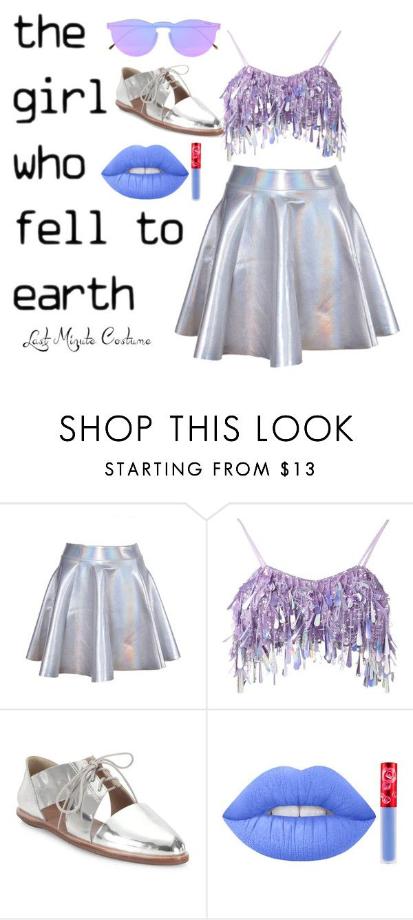 """Alien costume"" by victoriaam99 ❤ liked on Polyvore featuring Ashish, Loeffler Randall, Lime Crime and Illesteva"