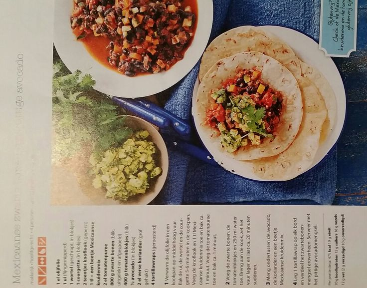 Mexicaanse zwarte bonen met avocado  (gezondetenmagazine )