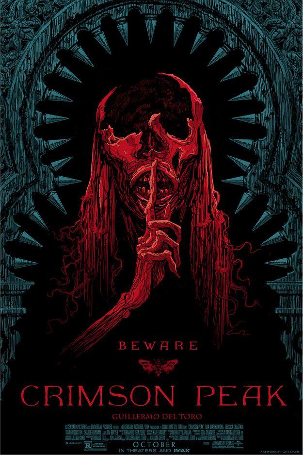 Crimson Peak poster illustration.  I can't wait to see this film, I love Guillermo Del Toro's films.      La Cumbre Escarlata por Guy Davis