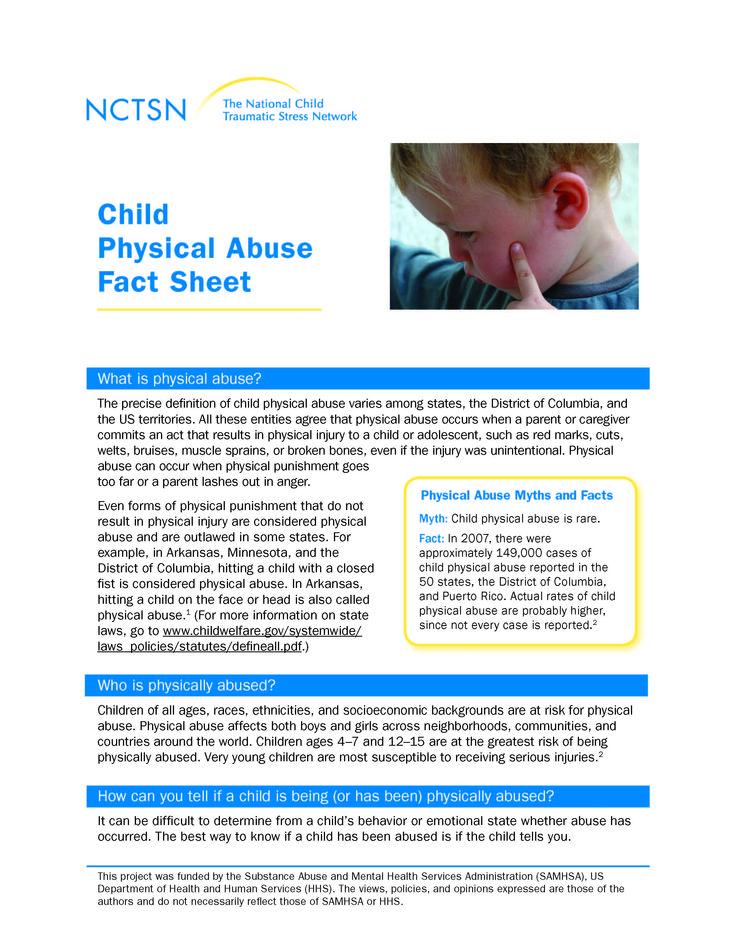 Child Physical Abuse Fact Sheet (2009)