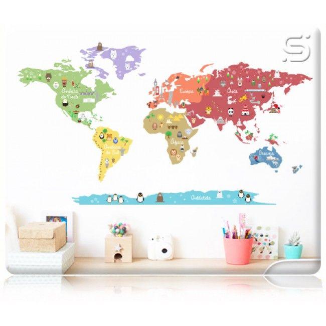 Adesivo De Parede Bailarina Mercado Livre ~ 17 melhores ideias sobre Parede De Mapa Do Mundo no Pinterest Sonhos, Mapas e Murais de parede