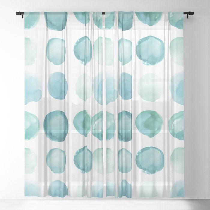 New Juul Round Watercolor Blue Sea Glass Drapes Nothing Makes A